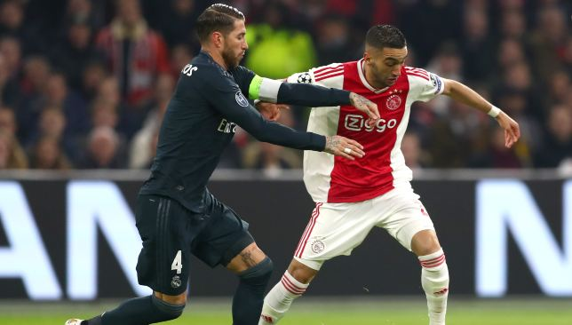 Real hold a slender lead over Ajax and will be without Sergio Ramos in the second leg