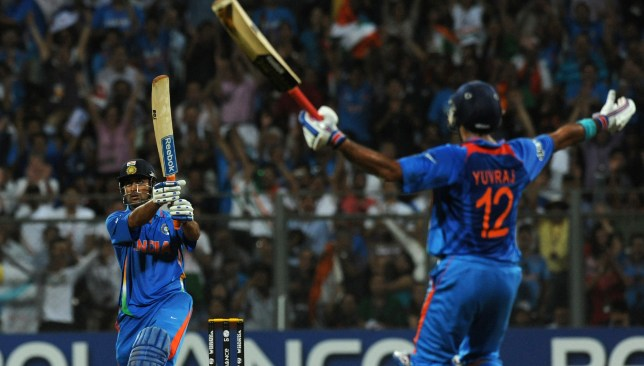 Dhoni hit the winning six for India in the 2011 World Cup on home soil.