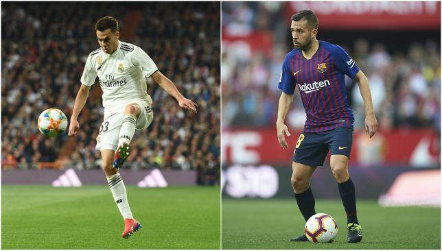 Young gun left-back vs the wily old veteran: Sergio Reguilon vs Jordi Alba.