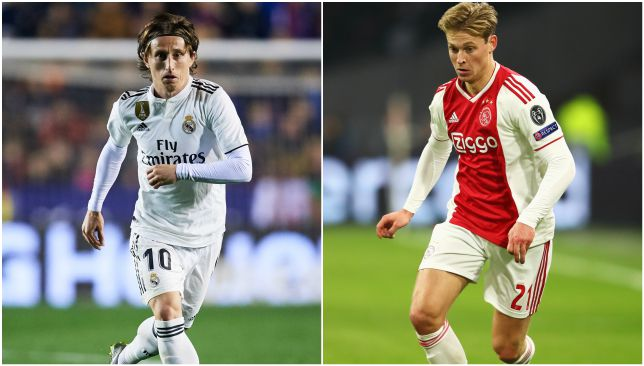 An El Clasico preview? Veteran Modric vs Barcelona-bound De Jong.
