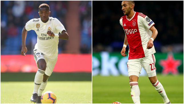 Two rising stars: Vinicius and Ziyech.