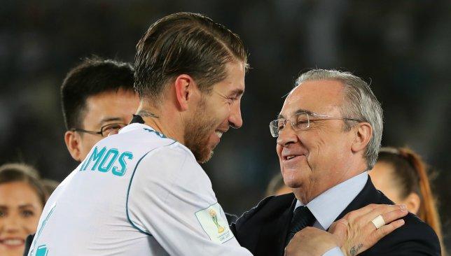 Sergio Ramos and Florentino Perez.