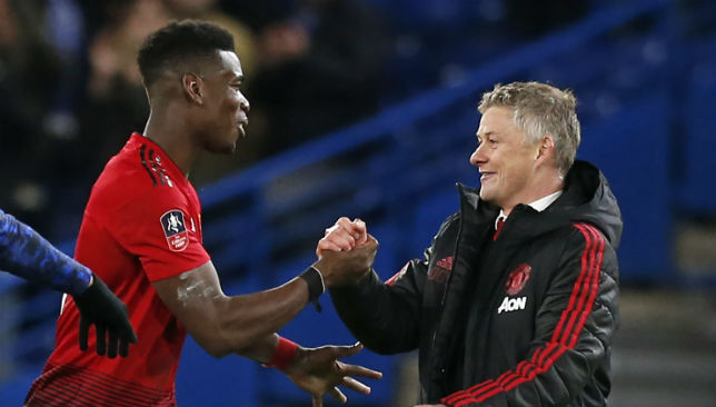 Pogba and Solskjaer.