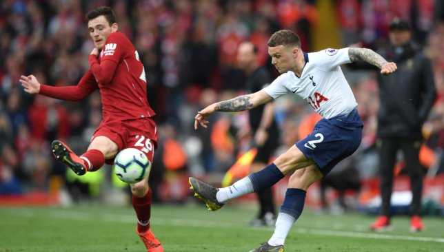 Andrew Robertson and Kieran Trippier