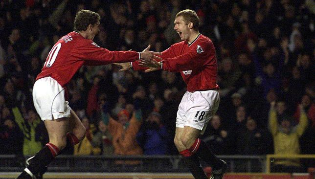 Ole Gunnar Solskjaer and Paul Scholes