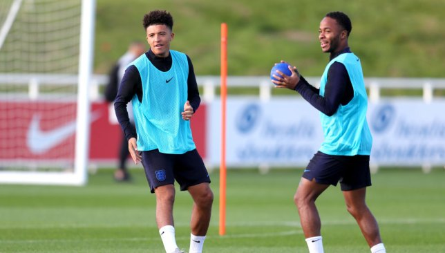 Sancho and Sterling on duty for England