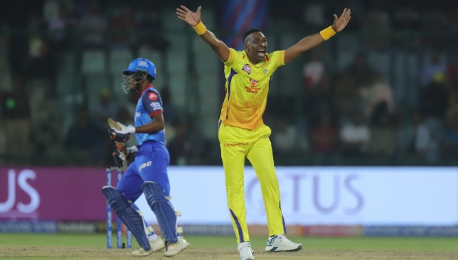 Bravo derailed Delhi's innings in the death overs. Image - IPL/Twitter.