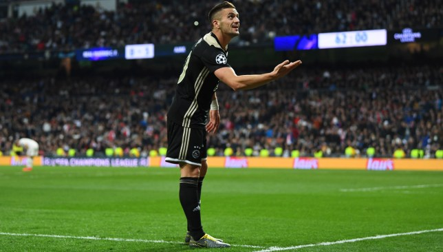Image result for real madrid vs ajax champions league 2019 tadic'