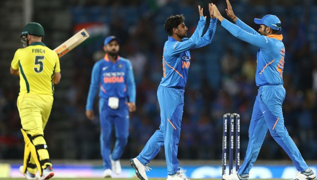 Finch's 53-ball stay was ended by Kuldeep Yadav.