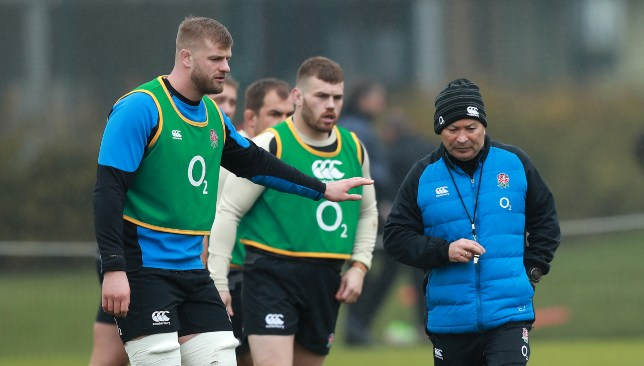 Kruis (l) and Eddie Jones (r) are ready for Italy.