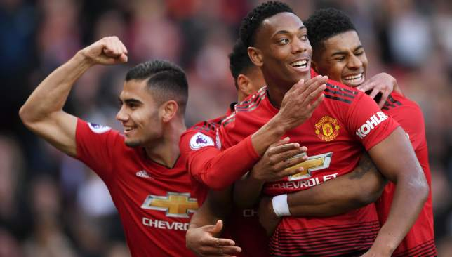 Anthony Martial and Marcus Rashford scored the goals for United.