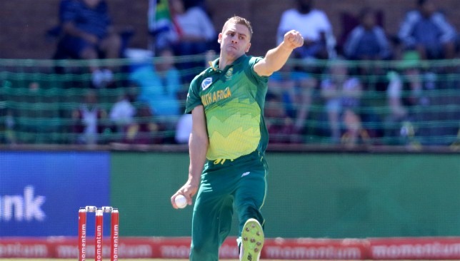 South Africa pacer Anrich Nortje.