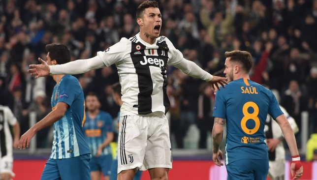 Ronaldo's hat-trick sent Juve through against Atletico last season.