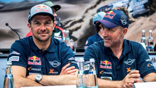 Stephane Peterhansel (l) and Cyril Despres will be among the leading contenders for cars glory.