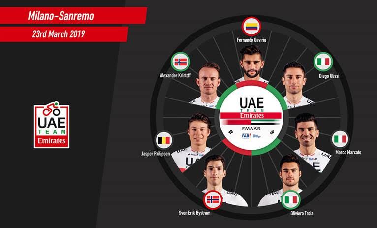 UAE Team Emirates San remo