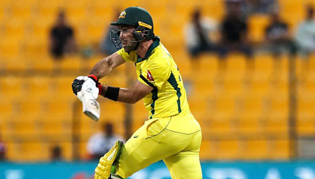 Glenn Maxwell hit eight fours and a six during his innings.