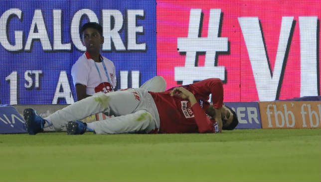 Mujeeb's injury looked a bad one.