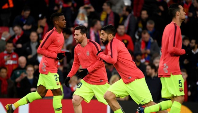 Well rested: Barca's big guns