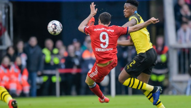 Robert Lewandowski prospers after Dan-Axel Zagadou's error