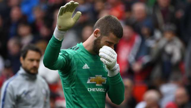 De Gea's mistake allowed Chelsea to equalise last weekend and secure a point.
