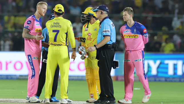 MS Dhoni lost his cool in the final over.