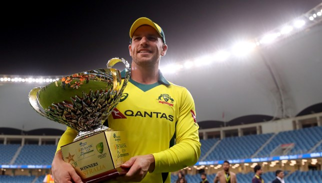 Skipper Aaron Finch finished as the man of the series.