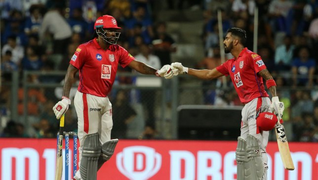 KXIP openers Gayle and Rahul. Image - BCCI/SPORTZPICS.