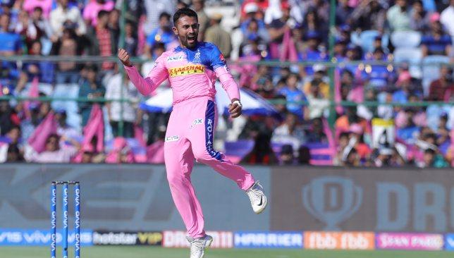 Rajasthan Royals leg-spinner Shreyas Gopal. Image - BCCI/SPORTZPICS.
