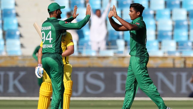 Hussain is impressed by young Hasnain (r).