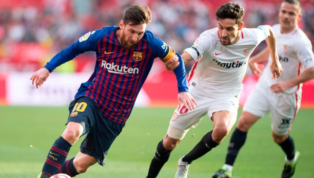 Messi hat-trick overpowers Sevilla.