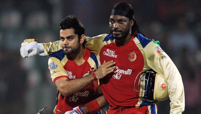 Gayle (r) had plenty of memorable displays for RCB.