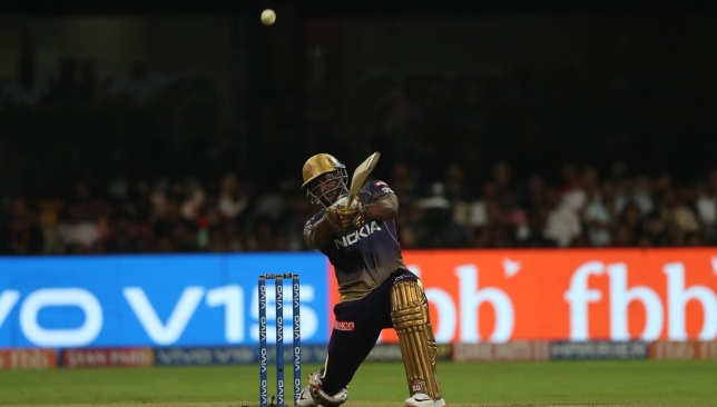 Russell in unstoppable mood. Image credit - @IPL/Twitter.