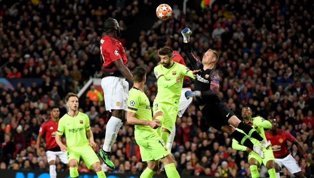 Barca were given a few nervy moments by United in the first-leg.