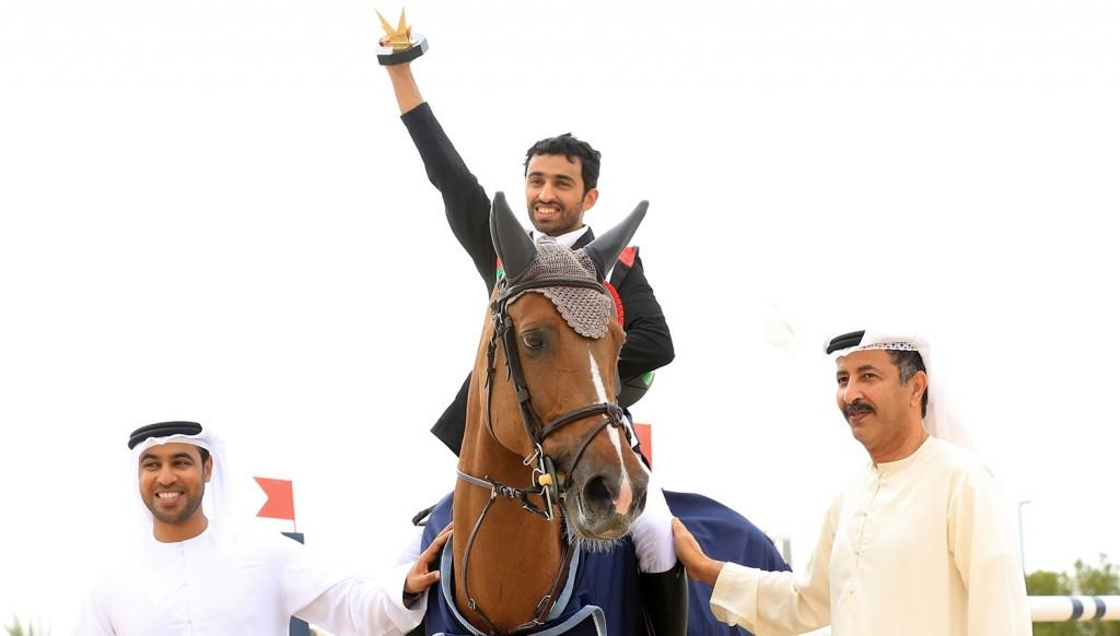 Pep in his step: Salim Khamis Al Suwaidi and his horse ' Espresso'