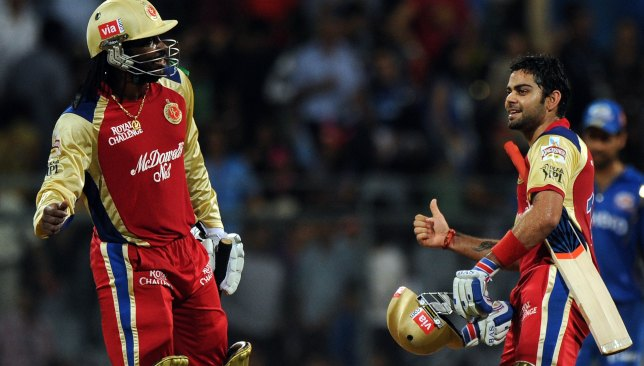 Kohli (r) almost took RCB to the play-offs after taking over.
