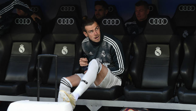 Image result for gareth bale alone in madrid dugout