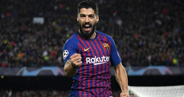Luis Suarez opened the scoring against his former side.