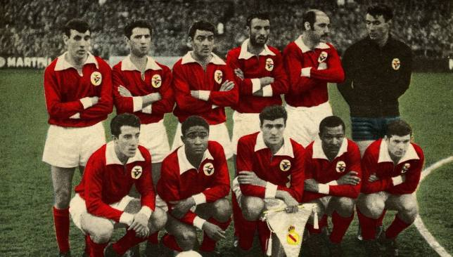 The Benfica team in 1961 (Photo Credit: www.slbenfica.pt)