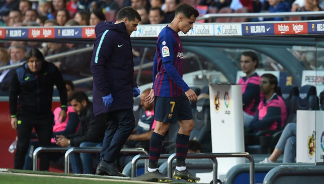 Coutinho exited in the second-half with a hamstring injury