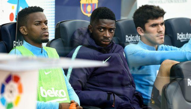 Nelson Semedo, Ousmane Dembele and Carles Alena