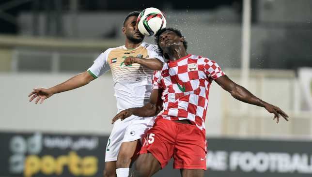 Emirates (white) and Fujairah are scrapping to stay in the division.