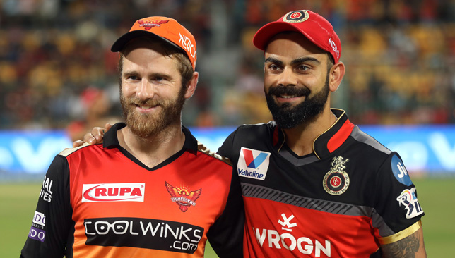 Kane Williamson with Virat Kohli.