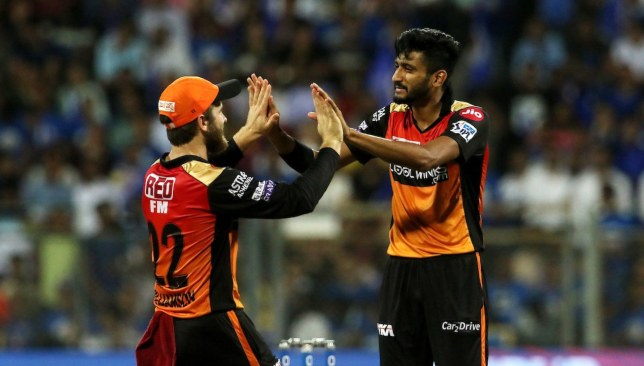 Three wickets for Khaleel. Image - IPL/Twitter.