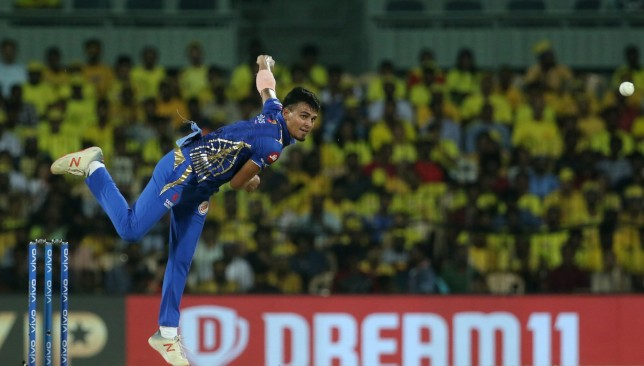 Rahul Chahar was excellent against CSK in the Qualifier. Image - @IPL/Twitter.