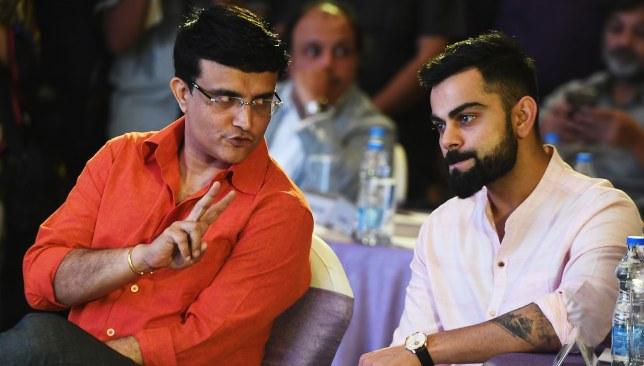 Ganguly and India skipper Virat Kohli.