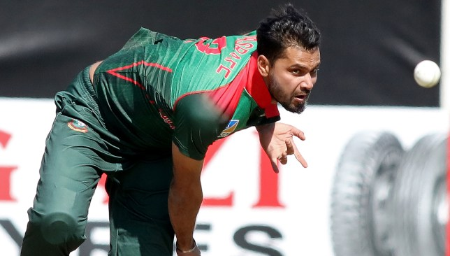 Mortaza picked up the injury during the warm-up game against India.