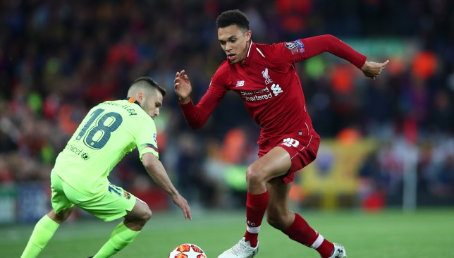 Alexander-Arnold was excellent in the comeback win over Barcelona.