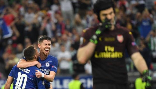 Hazard ran the rule over Arsenal at Baku.
