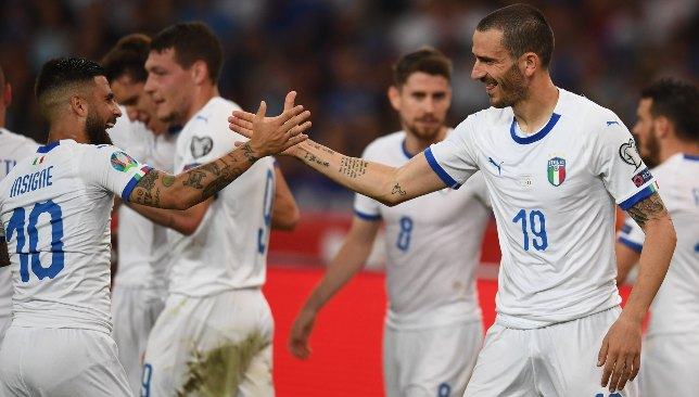 Insigne and Bonucci were on target in Italy's win.