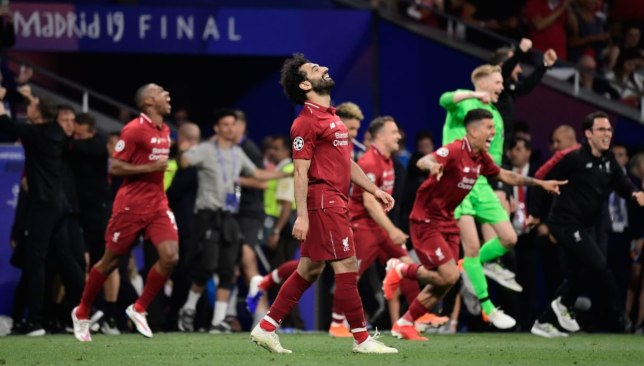 Mohamed Salah after the final whistle